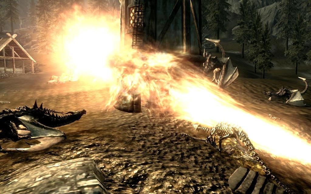 Dragon's fire on Skyrim by Annatiger1234 on deviantART