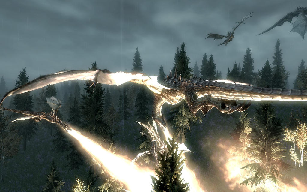 1366x768 dragon fire skyrim - photo #20