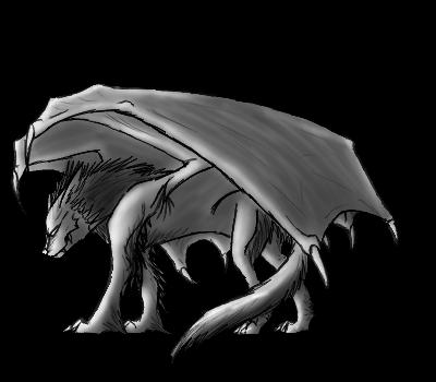 AnnaWolf's Freebies Free_dragon_wolf_pose__lighten__by_annatiger1234-d63vqd3