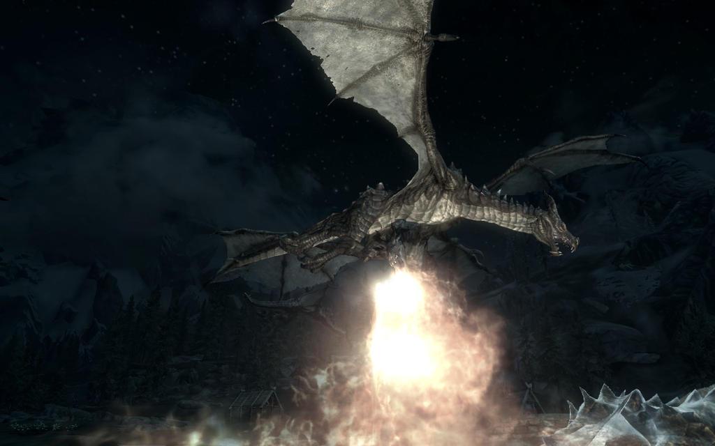 Dragon Under Fire Skyrim by Annatiger1234 on deviantART