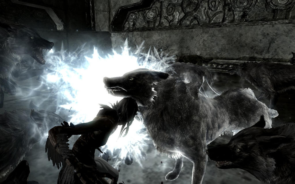 Dire wolf vs wolf - photo#10