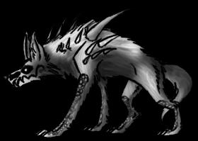 Demon Dog/Wolf Pose by Annatiger1234