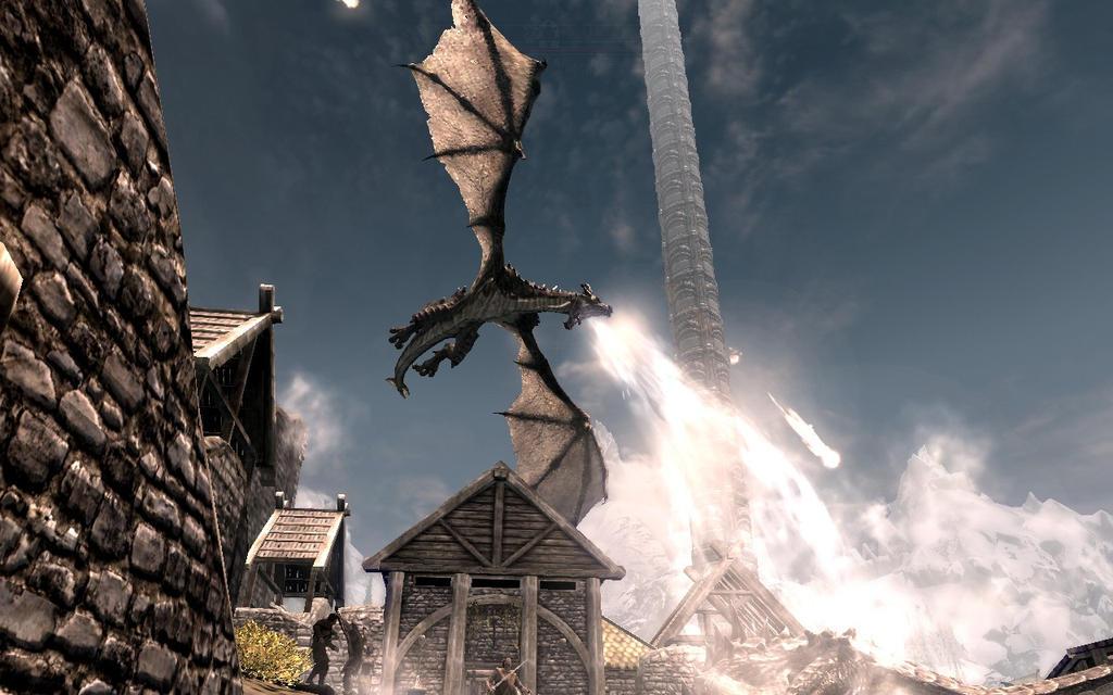 1366x768 dragon fire skyrim - photo #10
