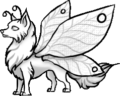 Wolf Puppy with Butterfly wings Pose by Annatiger1234