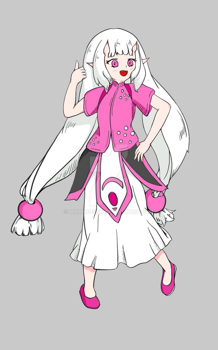 Commission Miko (flat colored) by mrakcuson
