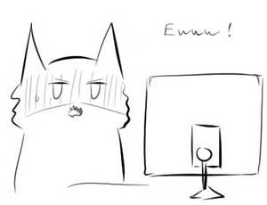 Cat reaction doodle (Eww)