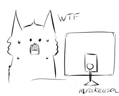 Cat reaction doodle (scream)