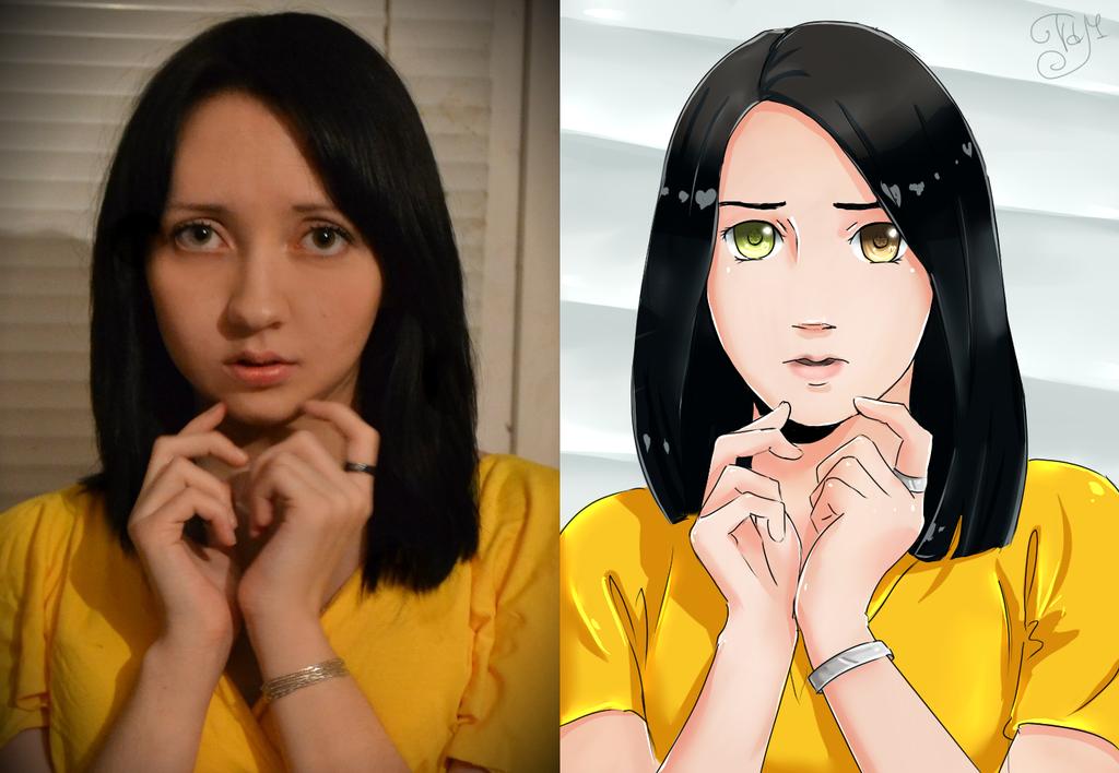 Как из фото сделать аниме картинку фотошоп