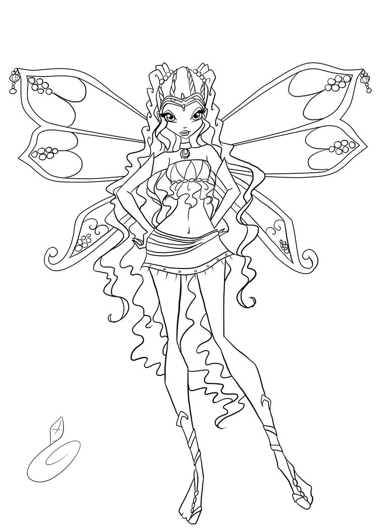 layla winx coloring pages - photo#11