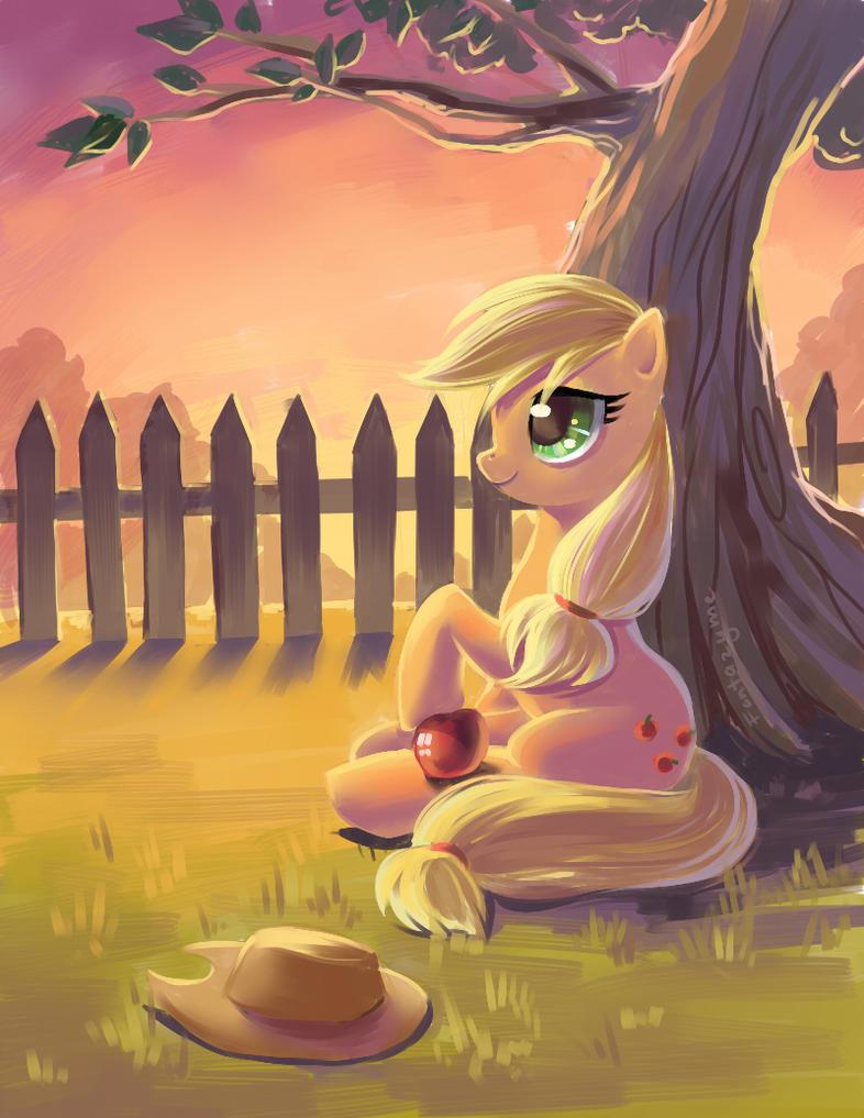 Applejack. by fantazyme