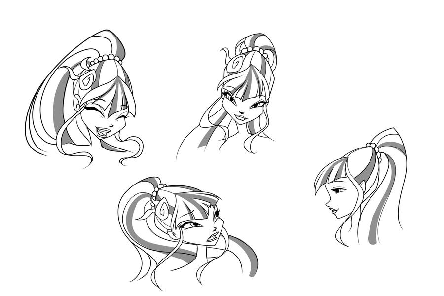 Musa Sirenix sketches head by fantazyme