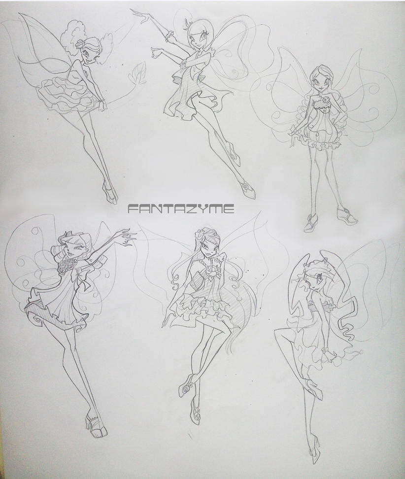 Pop pixie as Winz sketches by fantazyme