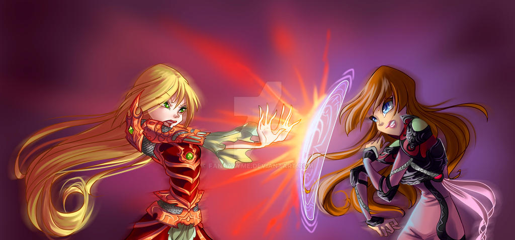 Fight Nestea and Amanda by fantazyme on DeviantArt