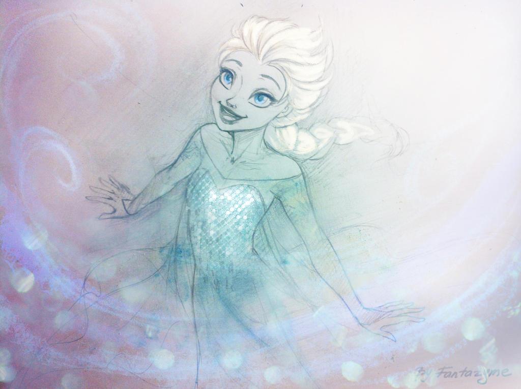 how to draw elsa ice bridge