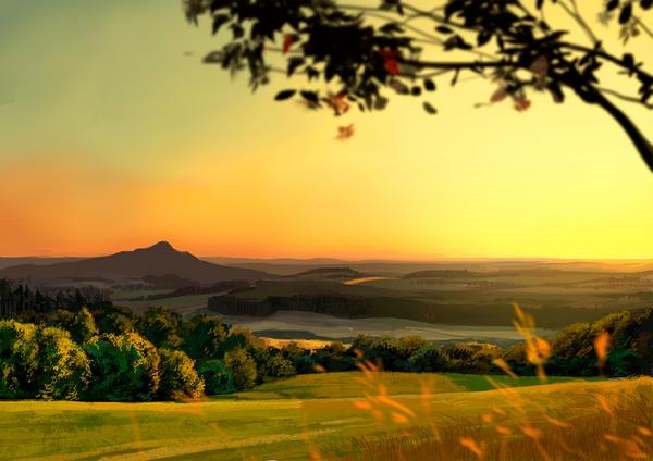 Golden Sunset by fantazyme
