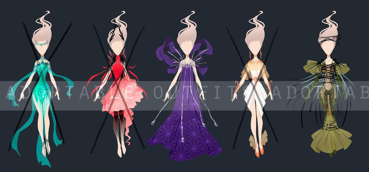 (Open) Fantasy dress , Adoptable outfits by fantazyme