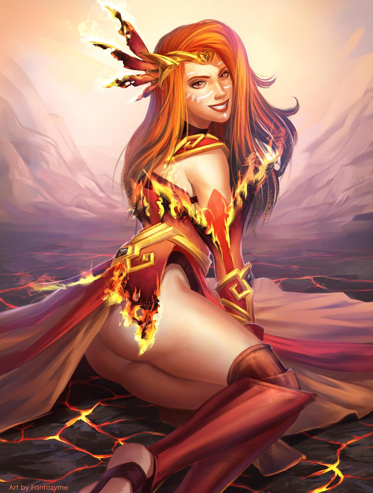 Fire Soul - Lina by fantazyme on DeviantArt