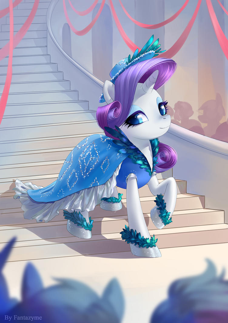 Commission: Rarity by fantazyme