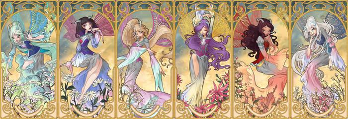 Art Nouveau Fairies - Tiefix Form by fantazyme