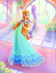 Commission: Sylvanna Ball Dress by fantazyme