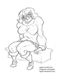 Velma Dinkley seated by ragelix