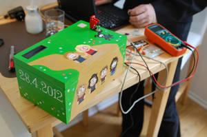 Reverse Geocaching Wedding Gift Box - Construction by HelgaVelroyen