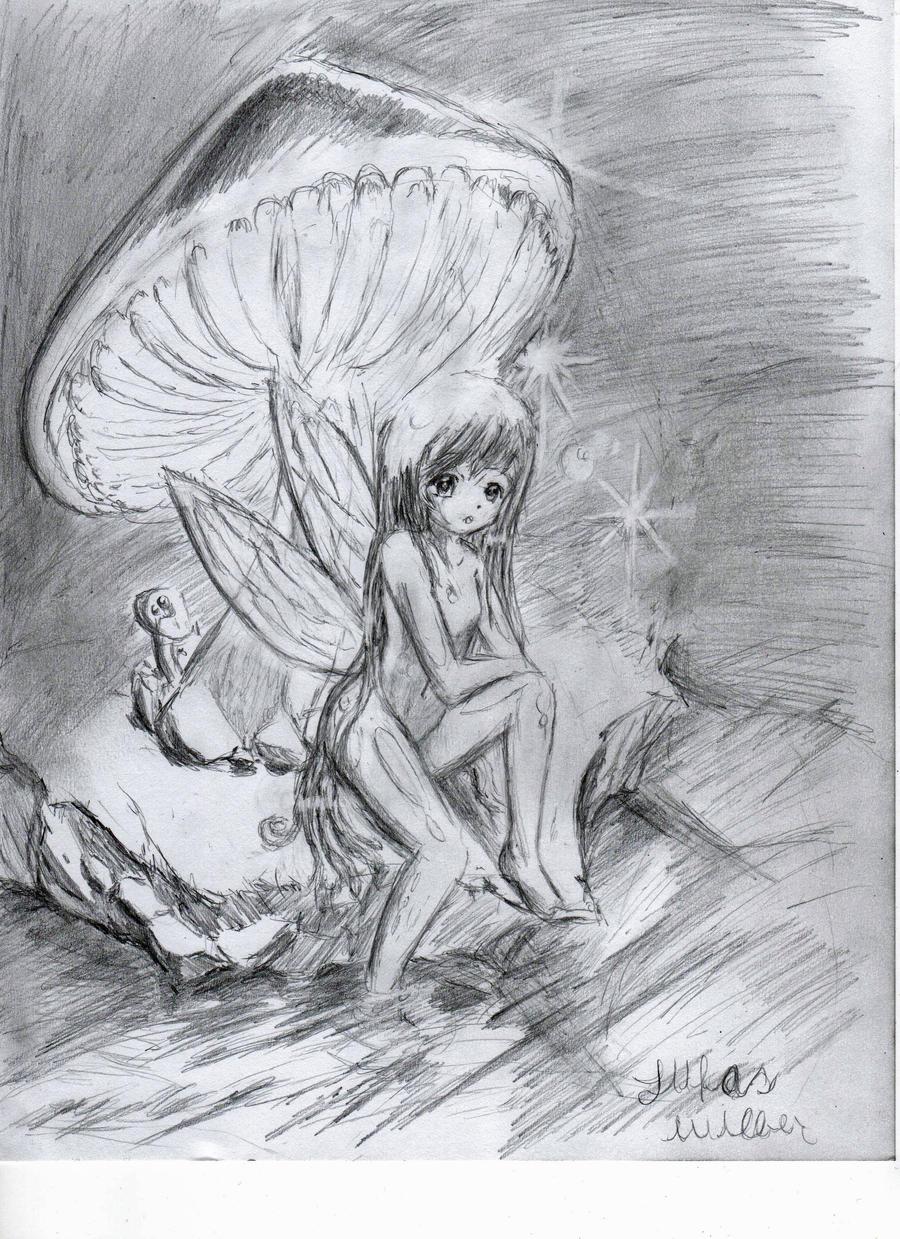 Mushroom fairy by lukas90 on deviantart for Fairy on a mushroom drawing