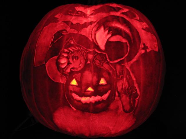 Happy Halloween Hinata pumpkin by lukas90
