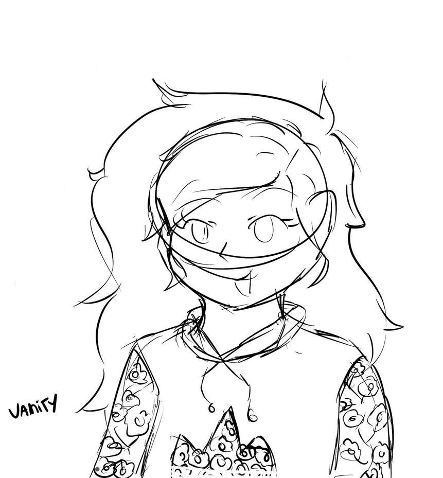 Vanity (OC Sketch) by HelloOstrich