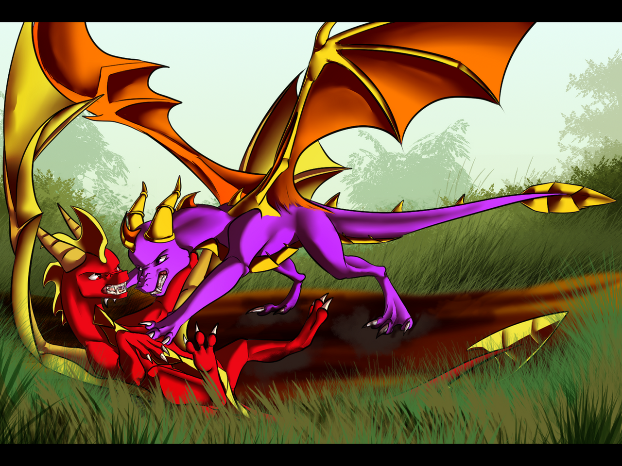 dont hit cynder by art by ling on deviantart