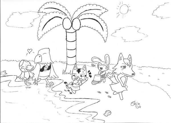free coloring pages of animal crossing view images