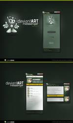 DeviantART Messenger Beta view