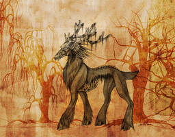 The Spirit Deer by Sea-Dragon