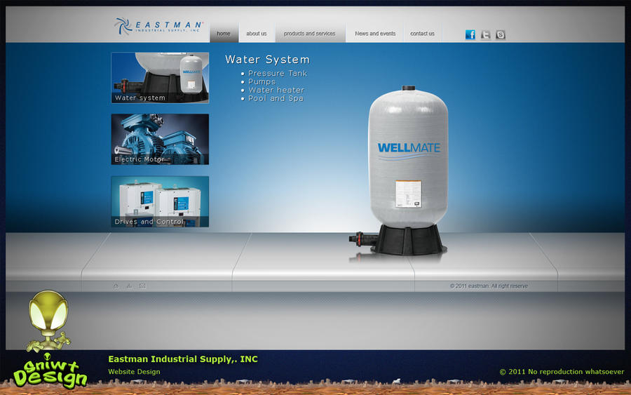 Eastman industrial supply inc website design by sniwt for Industrial design corporation