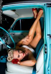 Pinup Car by BlackRoseArt