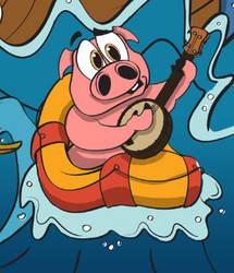 Banjo Pig by illdrawtomorrow