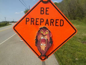 BE PREPARED... to stop