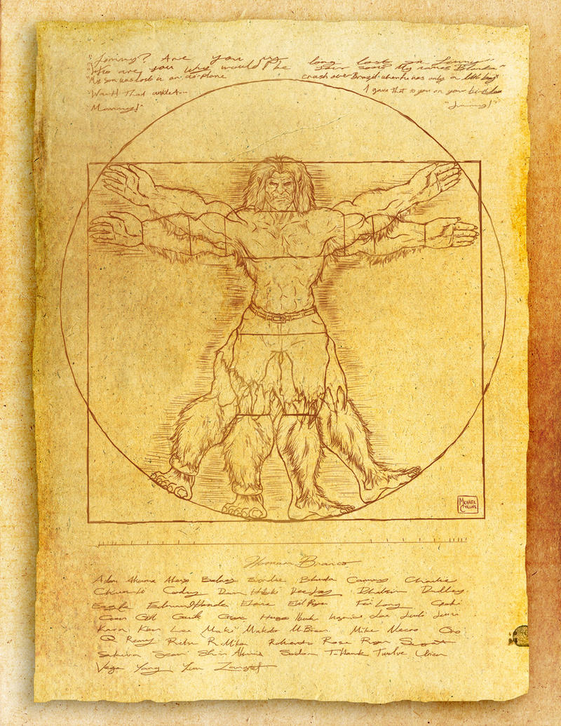 The Vitruvian Beast by puggdogg