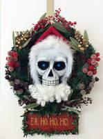 Hogfather DEATH Wreath by puggdogg
