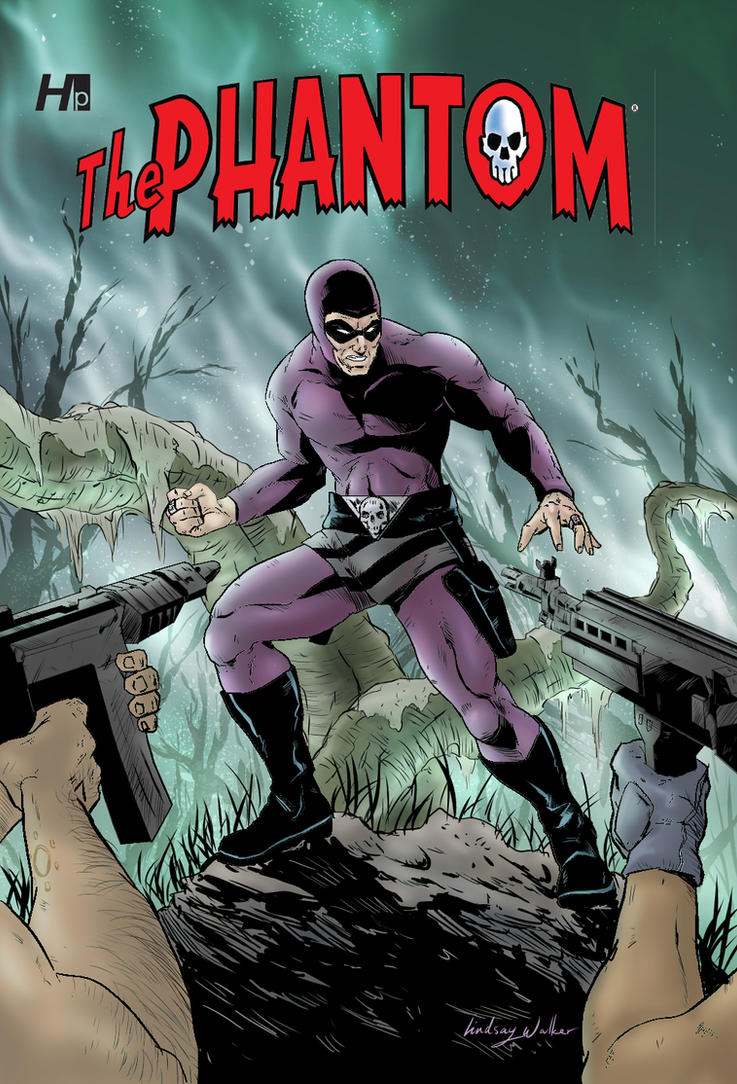 The Phantom - Hermes Press cover by puggdogg