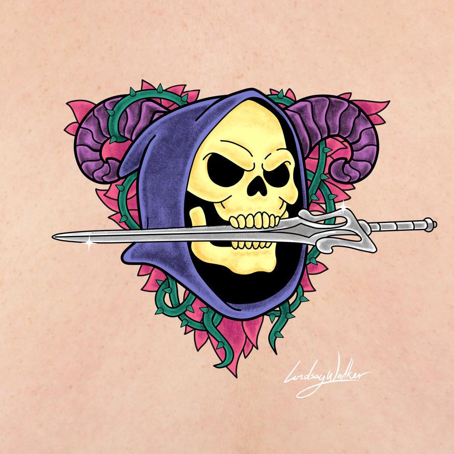 Skeletor Tattoo by puggdogg