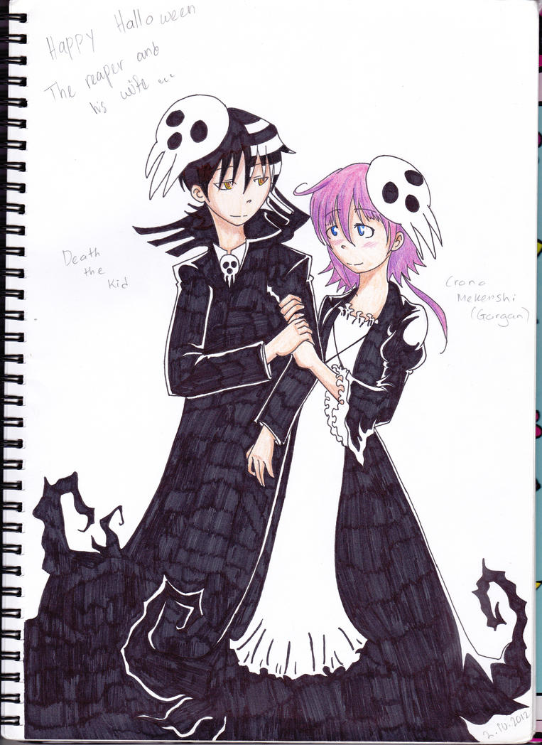 Kid and Crona- Halloween 2 by avril9 on DeviantArt