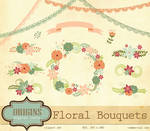 Floral Bouquets Vector and PNG Clipart