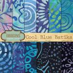 Cool Blue Batiks Textures