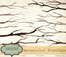 Watercolor Branches PNG Clipart by DigitalCurio
