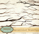 Watercolor Branches PNG Clipart