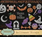 Halloween Chalkboard Clipart and Digital Scrapbook