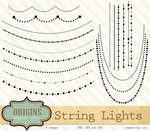 String Lights Vector and PNG clipart