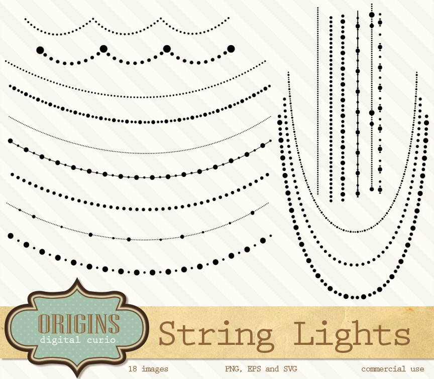 String Lights Vector And PNG Clipart By DigitalCurio