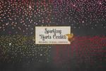 Sparkling Hearts Confetti Clipart